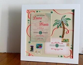 framed wedding invitation keepsake wedding gift from mother bridal shower gift for daughter