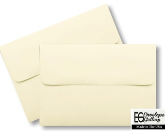 Ivory (50 Boxed) 60lb Envelopes for Invitations Cards Weddings Announcements Response Showers Photos Communion Ecru Natural A1 A2 A6 A7