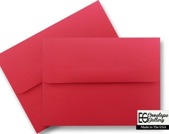 Red (100 Boxed) Envelopes for Invitations Announcement Shower Weddings Enclosures Response Astrobrights Re-Entry Red A1 A2 A6 A7