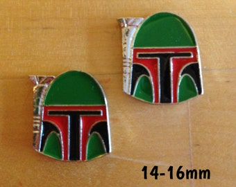 14mm-16mm Boba Fett head Star Wars plugs for stretched ears