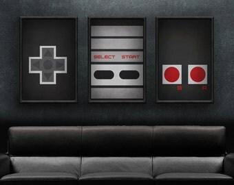 Nintendo Art - NES Controller Print Set
