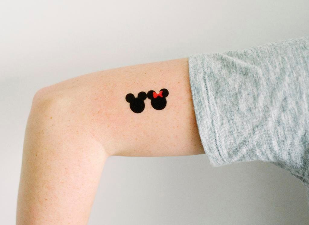 3 mickey and minnie temporary tattoos geektat for Disney temporary tattoos mickey mouse
