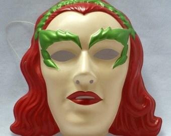 Batman Forever Poison Ivy Halloween Mask Near Vintage Rubies PVC DC Comics Y012