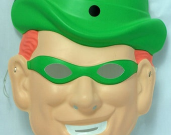 DC Comics The Riddler Vintage Halloween Mask Batman Villain Rubies Y129