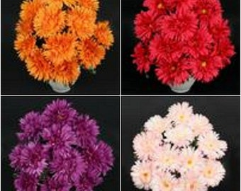 12 LARGE Gerbera Bundle Posy Artificial Flowers Wedding 40cm
