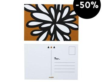 "Yellow mustard flower Postcard - ""Organik 2"""