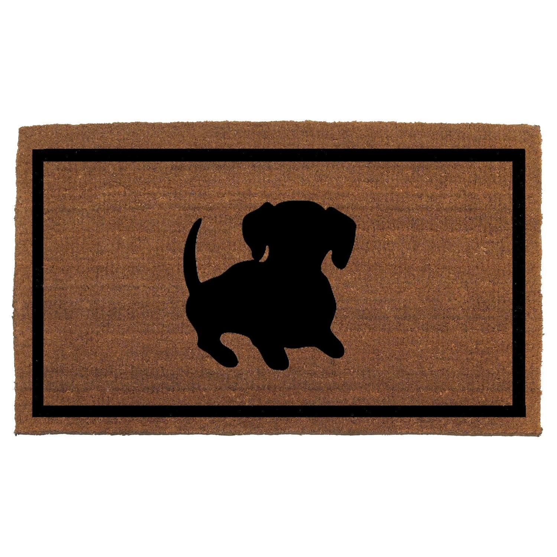 Dachshund Dog Door Mat Coir Doormat Rug 2' X By