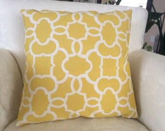 Yellow Outdoor Pillow, Outdoor Decor, Outdoor Cushion,All Weather Pillow, Sun Shade Cushion, Porch Patio