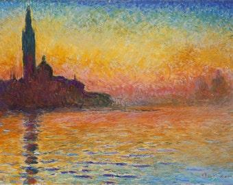 San Giorgio Maggiore at Dusk by Claude Monet