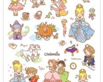 Korean Fairy Tale Story Sticker - Cinderella 1 Sheet