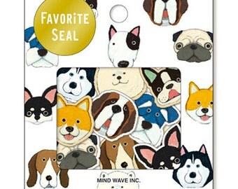 Japanese MW Cute Dog Flake Sticker Pack 70Pcs