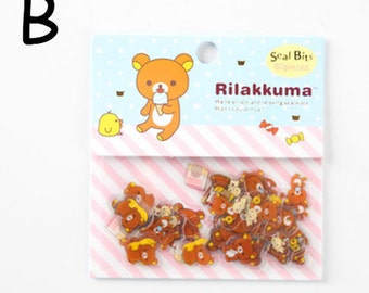 NEW RILAKKUMA Flake Stickers Pack 80PCS BLUE
