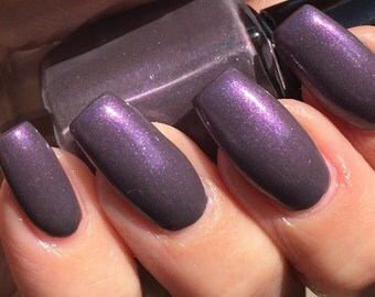 Pearly Plum - dusty plum shimmer nail polish