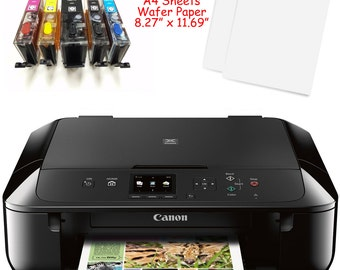 SALE***Canon MG6820/MG6821 Edible Printer Bundle w/ Ink, 20 LARGE A4 Wafer Sheets & Templates