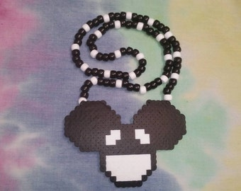 Deadmau5 Head Perler Kandi Necklace for Raves, Music Festivals, Concerts, and More! Available in Different Colors!