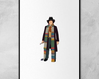 Doctor Who | Tom Baker | Minimal Artwork Poster