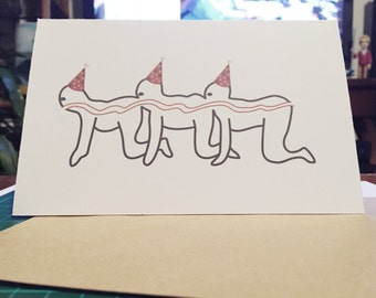 Human Centipede Birthday Card (Horror Birthday Card)