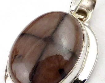 ANDALUSITE chiastolite on jewelry pendant is happiness, natural gemstone jewelry minerals ta22.2