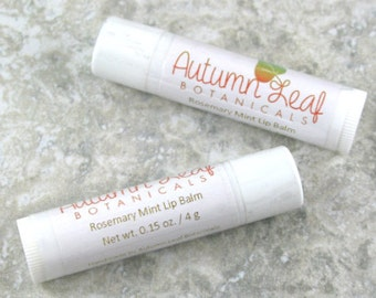 Rosemary mint lip balm, natural lip balm, chapstick, mint lip balm
