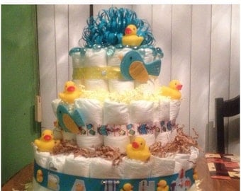 Baby Ducks Diaper Cake 3 Tier