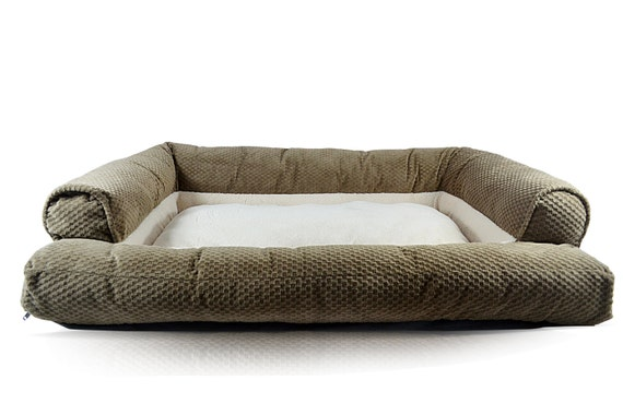 Couch dog bed handmade dog bed comfortable dog bed by cozycuddlerz Comfy couch dog bed