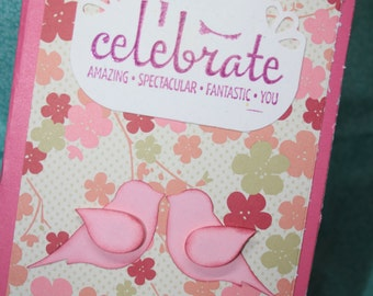 Handmade and stamped just because card