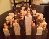 soft wood rough terrain chess board game