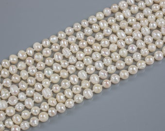Long Knotted Necklace-  Fresh Water Pearl- 36 inches Long- Ready to wear!