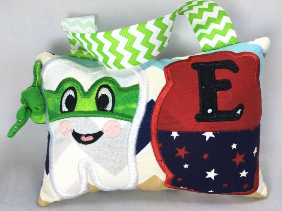Tooth fairy ninja pillow in the hoop design dst exp hus