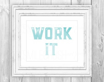 turquoise office decor. aqua office wall printable work it art decor turquoise desk
