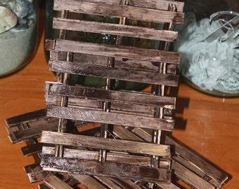 Wood Pallet Coasters (Set of 4)