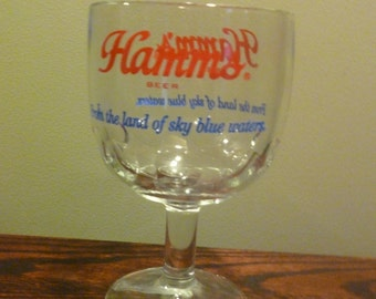 Hamms Beer Glass Goblet