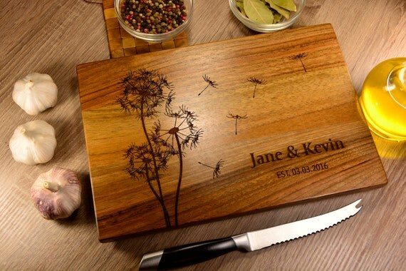 Personalized Wedding Gifts Kitchen : Custom cutting board custom wedding gift bridal shower gift