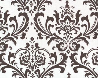 SALE 00P Traditions Brown and White Damask Home Decor Fabric by Premier Prints