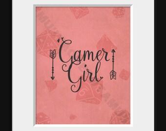 Gamer Girl Print