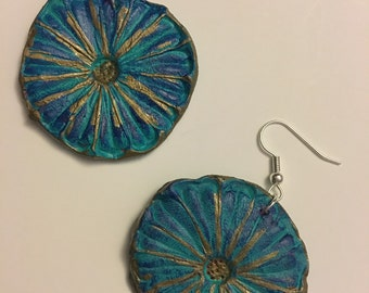 Hand sculpted & Painted earrings. Great Gift!