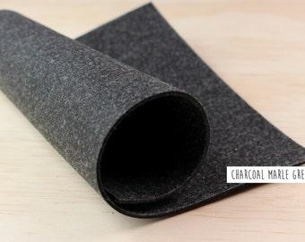 FELT_Charcoal_Dark Marle Grey_3mm thick_20cm x 30cm