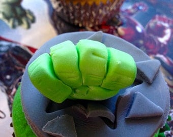 The Hulk Cupcake Toppers