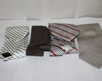 Four Vintage Ties, NICE Condition, Makers Include Galleria & Co. Made in Italy, Calvin Klein, Kelly Imported Jergal ?, Lazarus Wool Bend