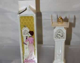 NEW PRICE Vintage Avon Fragrance, Cologne, Field Flowers, Fragrance Hours, Grandfather Clock Container of the Perfume, Box Comes With