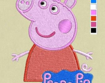 embroidery design Peppa Pig pes hus jef vp3 in zip