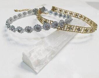 SALE SALE SALE Silver Diamond Choker
