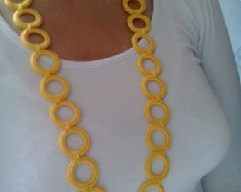 Yellow ring necklace