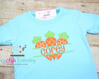 Easter shirt, Spring shirt, Boy Easter Shirt, Boy Spring Shirt, Girl Easter Shirt, Girl Spring Shirt, Carrot applique embroidery