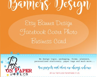 Banner design, Facebook cover design, Web banner, business branding, Graphic design service, Small business, graphic package