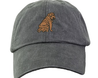 Chinese Shar-Pei Hat - Embroidered. Embroidered Chinese Shar-Pei Hat.  Adjustable Leather Strap. More Colors Avail. HER-LP101
