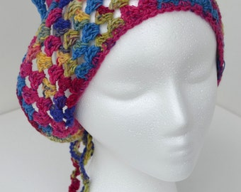Crocheted Springtime Variegated Kerchief