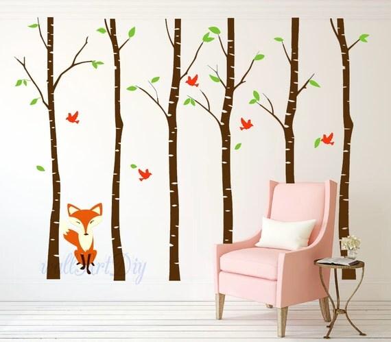 birke baum wandtattoo baum wand wandbilder gro er von. Black Bedroom Furniture Sets. Home Design Ideas