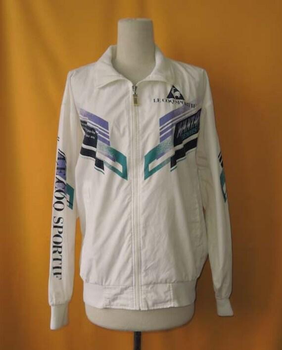 le coq sportif jacket vintage 90s windbreaker polyester cotton. Black Bedroom Furniture Sets. Home Design Ideas