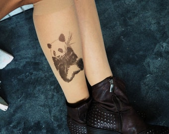 Knee high socks,panda socks,socks womens